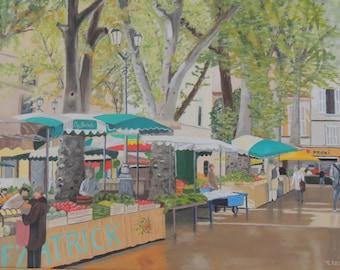 Market Day, Aix en Provence, France