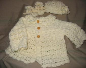 Soft Ivory Sweater Set