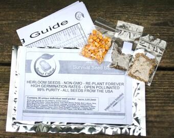 Emergency Survival Vegetable  Non-Gmo, Non-Hybrid, Heirloom Seed Kit