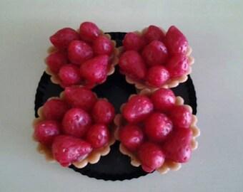 Mini Strawberry Pie Wax Melt