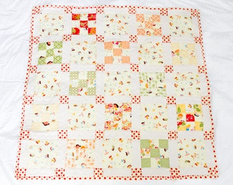 Baby girl floral-print quilt