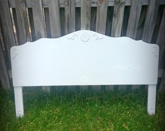 White Chippy Chic Headboard