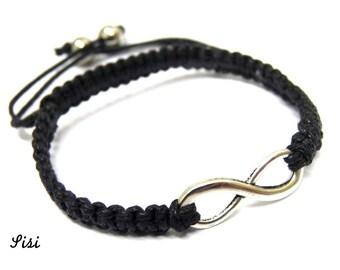 Infinity black bracelet
