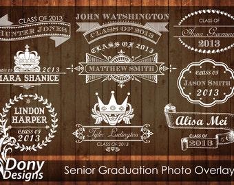BUY 1 GET 1 FREE Editable Senior Graduation Photo Overlays Instant Download: fo-501