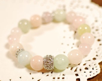 10% Sale Plus FREE SHIPPING - Natural Gemstone Bracelet , Bangle - Confidence, Happiness, Karma, Fortune, Aura