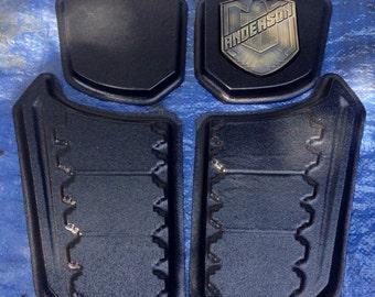 Dredd 3D style female vest armor (plates only)