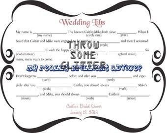 Wedding Libs Bridal Shower Game