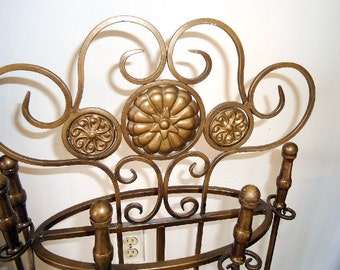 PICK UP ONLY Vintage Gold Fireplace Accessory