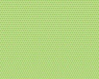 SALE  Ladybug Garden by Doodlebug Designs for Riley Blake in green dot