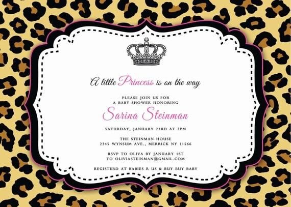 cheetah baby shower invitation, Baby shower