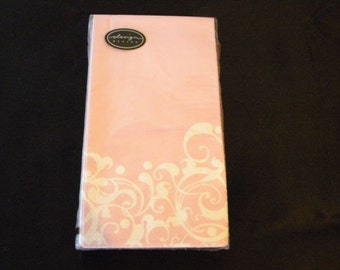 Beautiful 3-ply Pink Guest Towel Napkins