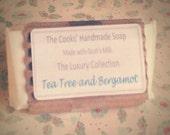 TEA TREE & BERGAMOT Handmade Goats Milk Soap with 100% Essential Oils