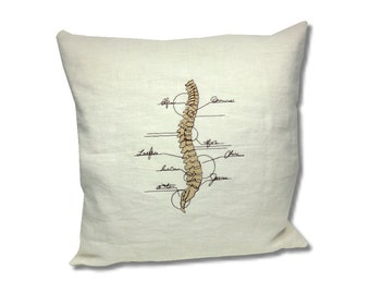 Anatomy Collection Linen Cushion Spine