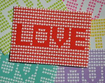 Love Postcards (set of six)