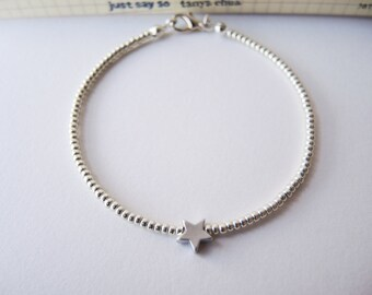 Silver Star bracelet - Silver
