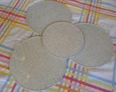 Pro-tex trivets / pot holders / hot pads // grey formica pattern // Retro