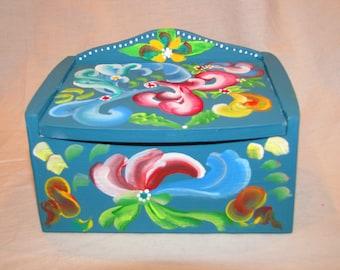 Norweigan Folk Art Jewelry Box