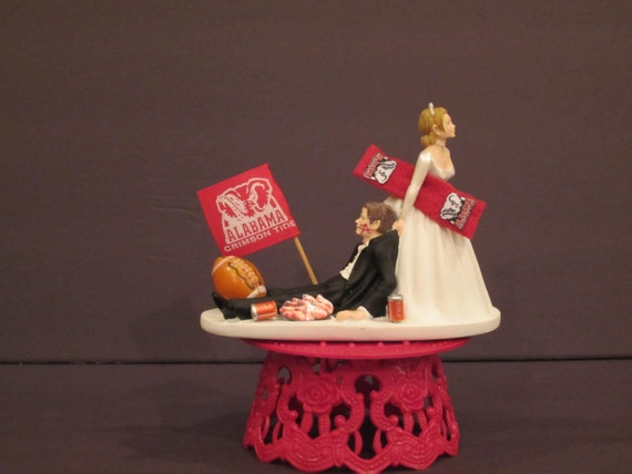 alabama football wedding cake toppers alabama crimson roll tide football college amp by 10645