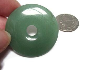 Aventurine Focal Donut Gemstone Bead 40mm
