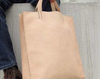 Hand Stitched  Leather Tote Bag/Shoulder Bag/Travel Bag/Book Bag
