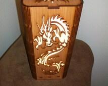 Dragon Lamp - Feng Shui -Shoji Stye Lamp - Laser Cut