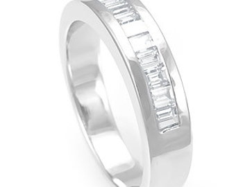 Channel Baguette Diamond Ring, Engagement and Wedding Ring