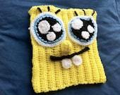 """Bob Esponja"" (""Spongebob Squarepants"") Woven wool handmade in crochet Hat / crochet"