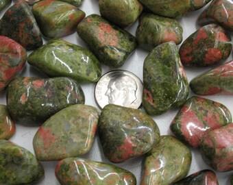 1/2 lb Unakite Tumble Polished Stones - Item 52110-8