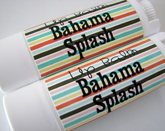 Bahama Splash Flavor - Vegan Lip Balm - Natural Lip Butter  -  Tropical Flavor - Bath and Beauty  -Home and Living