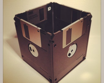 Recycled Floppy Disk Desk Tidy