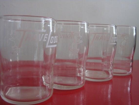 Vintage Travelodge Glasses
