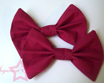 Red lolita bows (set of 2)