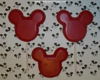 Mickey Mouse Lollipops, Minnie Mouse Lollipop (One Dozen)