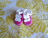 Crochet INFANT Baby Girl, Toddler Sandals, Shoes, 0-6 Months, Made to Order