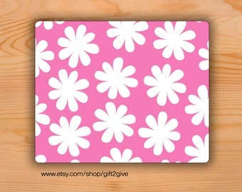 Mousepad Pink White Flowers