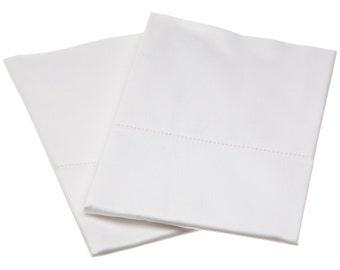 Organic Cotton Pillow Cases-Sateen-Toddler-Boy-Girl-Bedding-Certified Organic Cotton-Travel-Soft-Natural-White