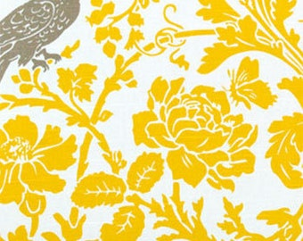 Yellow Bird fabric Premier Prints barber Corn Yellow Kelp slub cotton home decor Fabric by the Yard   - 1 yard or more - SHIPS FAST