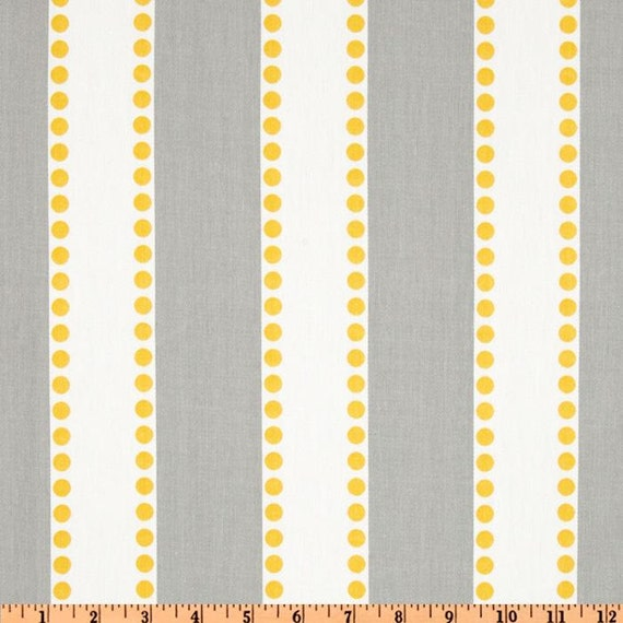 Grey Yellow Stripe Fabric By The Yard Premier Prints Lulu