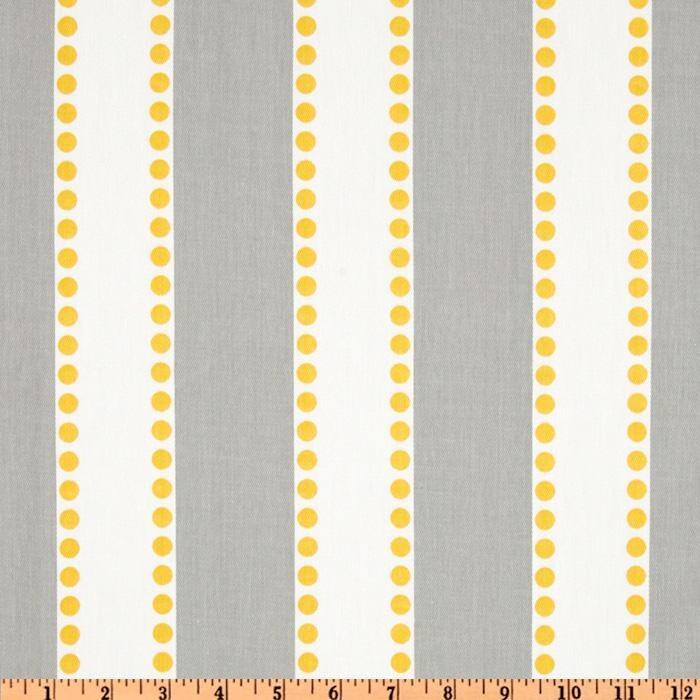 Grey Yellow Stripe Fabric By The Yard Premier By Fabricsecret