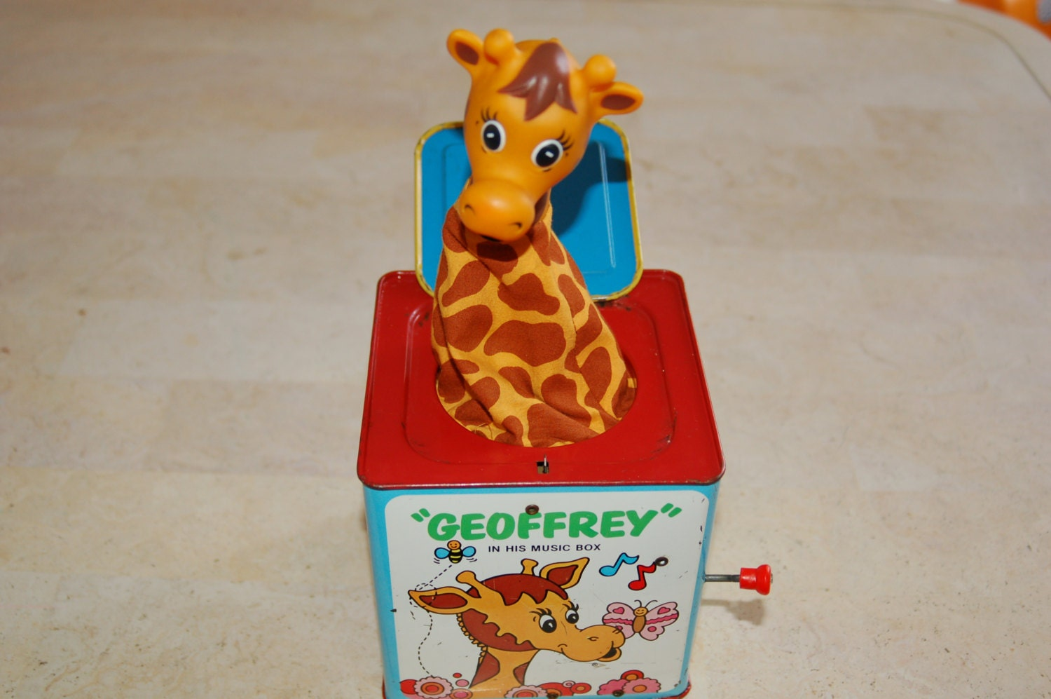 Old Toys From The 70s : Vintage s toys r us mattel geoffrey giraffe jack in the