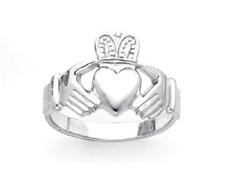 Sterling Silver hi-polished men's Claddagh ring