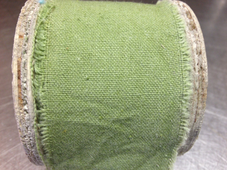 sage green raw muslin ribbon 2 inches x 9 8 by petalandforrest. Black Bedroom Furniture Sets. Home Design Ideas