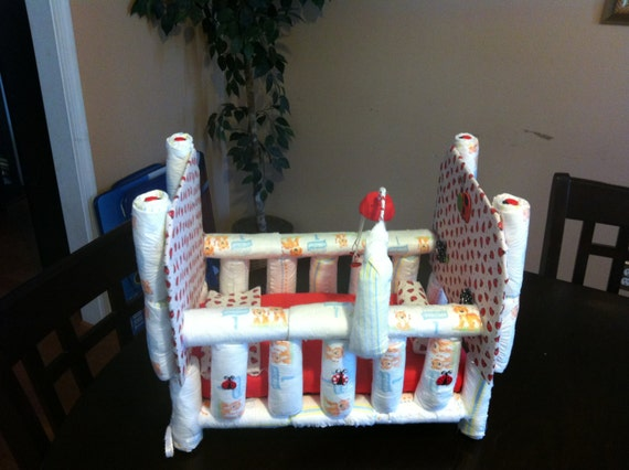 Items Similar To Crib Diaper Cake Centerpeice On Etsy