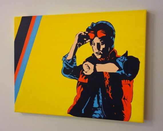 Marty McFly, Back to the Future - Pop Art Acrylic Painting