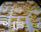 Math Cookie Cutters (Set of 5) - 3D Printed