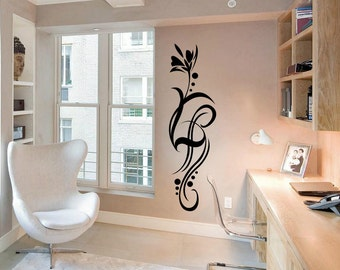 Flower Wall Decal Cute Vinyl Sticker Home Arts Floral Wall Decals WT018