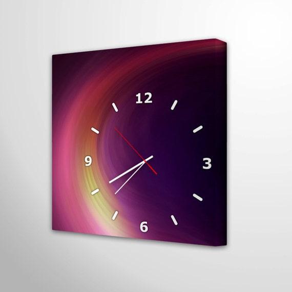 Canvas Wall Clock Design : Wall clock canvas retro art decoration unique modern kitchen
