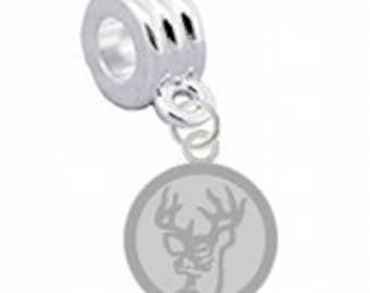 Deer Silver European Charm for Bracelet