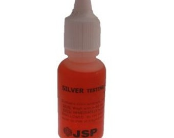 1 Bottle Silver Testing Solution Acid - Sterling Metal Jewerly Liquid Tester