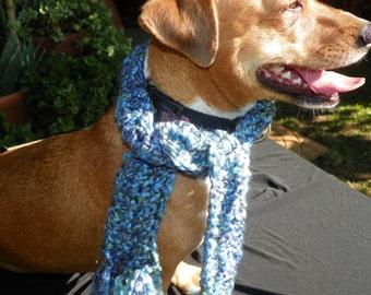 Dog Scarf Shades of Blue  Sizes XXSmall-XXXXXLarge Hand Made